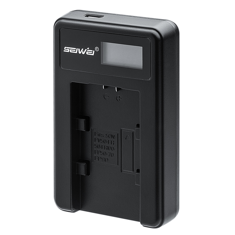 NP-FV50 NPFV50 USB Caricabatteria della Macchina Fotografica con Schermo A LED per Sony NP-FV50 FV100 FV90 FH60 FP90 FDR-AXP35 FDR-AX33 FDR-AX30