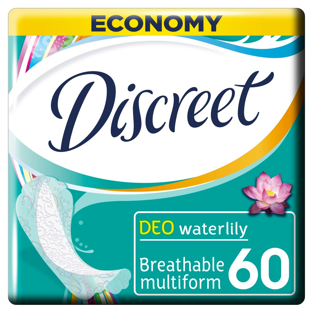 DISCREET Women's sanitary pads for every day Deo Water Lily Multiform Trio 60 pcs цена