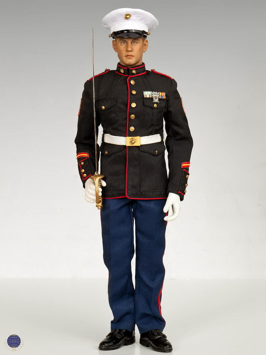 "1/6 scale Military figure doll USMC DRESS BLUE US Marine Corps soldiers ceremony 12"" Action figure doll Collectible Model Toys"