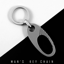 купить Real Titanium Car Key Chain Men Creative Ultra Lightweight Titanium Keychain Hanging Key Rings Quickdraw Tool Best Gift for Men дешево