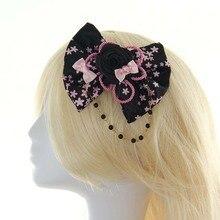 Estilo japonés Negro Pequeño Arco Floral Lolita Pelo de La Flor/Celada Envío Gratis