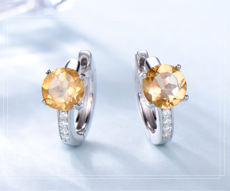 925 sterling silver natural citrine earrings for women (3)
