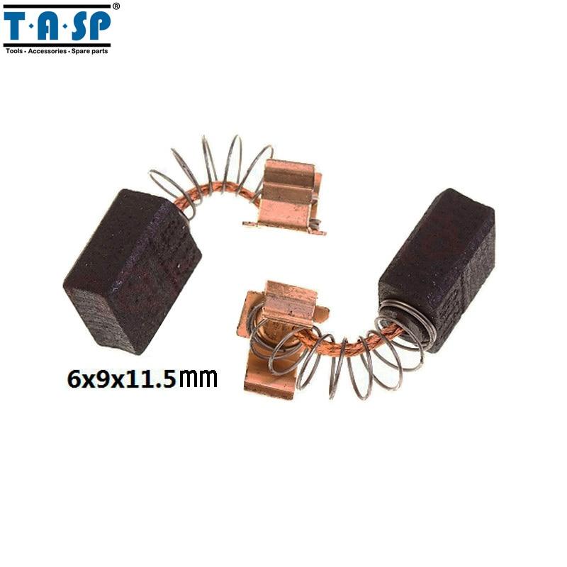 TASP Carbon Brushes 6x9x11.5mm 5 Pairs For Makita Electric Motors CB 406 407 418 419 CB406 CB407 CB418 CB419