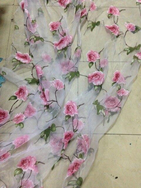 Органза ткань с вышивкой