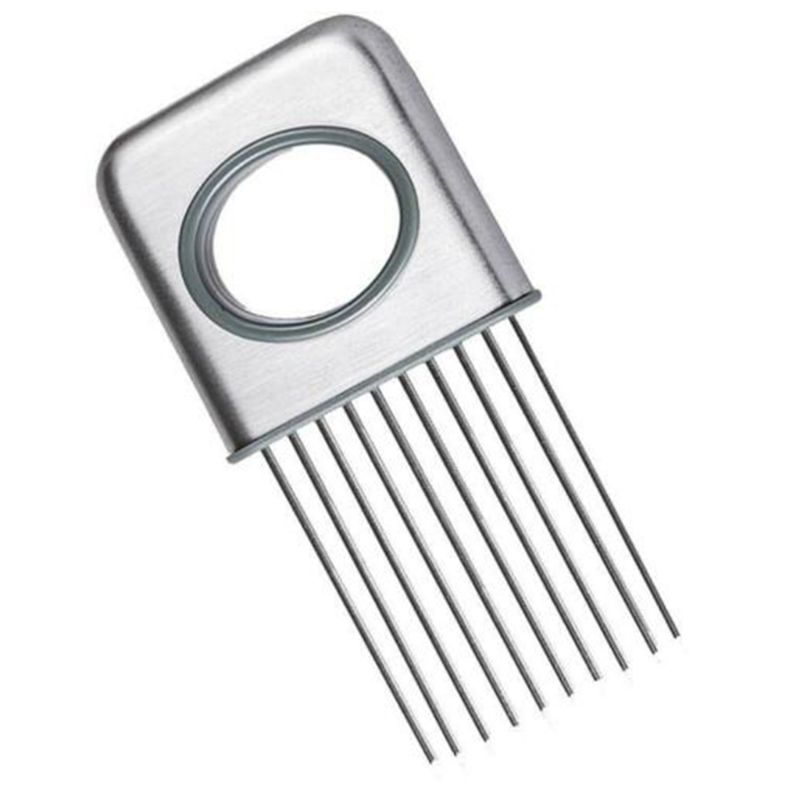 Kitchen Appliances Stainless Steel Food Slicer Holder With Prong Meat Onion Vegetables Needle Cutter Fixer