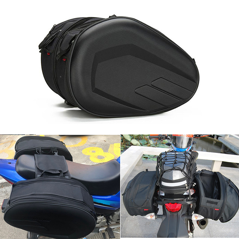 1 Pair SA212 Motorcycle Saddle Bag Luggage Suitcase Motor Rear Seat Bags Luggage With Rain Waterproof Cover 36-58L Motorbike