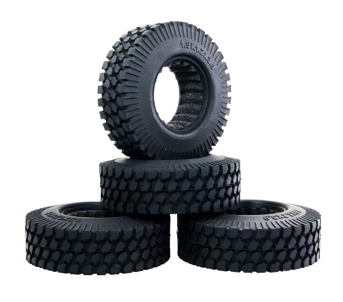 4pcs 1.9 1.9 inch RC Crawler truck tire skins tires thread with foam fit for RC4wd D90 Axial SCX10 diameter 98mm 1.9*1.2*3.9 4pcs rc crawler truck 1 9 inch rubber tires