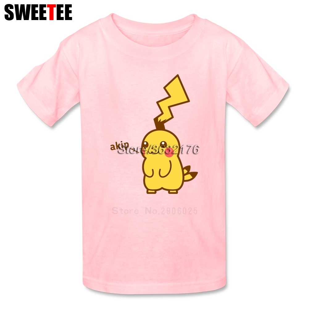 pikachu childrens T Shirt Pure Cotton Short Sleeve Crew pokemon Neck Tshirt Costume Boys Girls 2018 Cool T-shirt For Baby