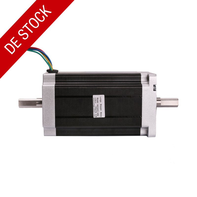 EU Free EU Stock CNC LONGS MOTOR 1pc Nema 34 Stepper Motor 34HS5435C 02B2 Dual Shaft