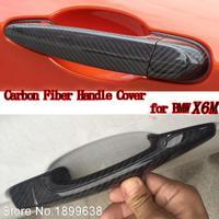 Высокое качество углеродного волокна материал никелированные дверные ручки автомобиля Стикеры для BMW X6M x6 m E71 2008 2009 2010 2011 2012 2013