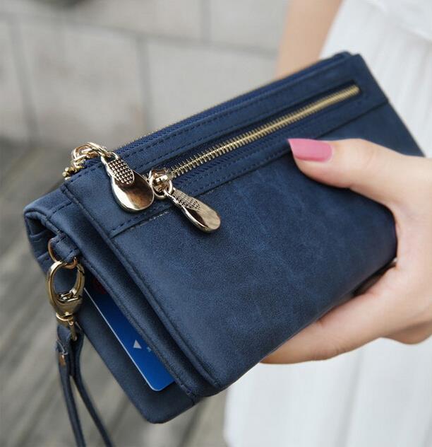 Мода Женщин Бумажники Долго PU Молнии С Длинным Кошелек Женский Сцепления Портмоне для Дам