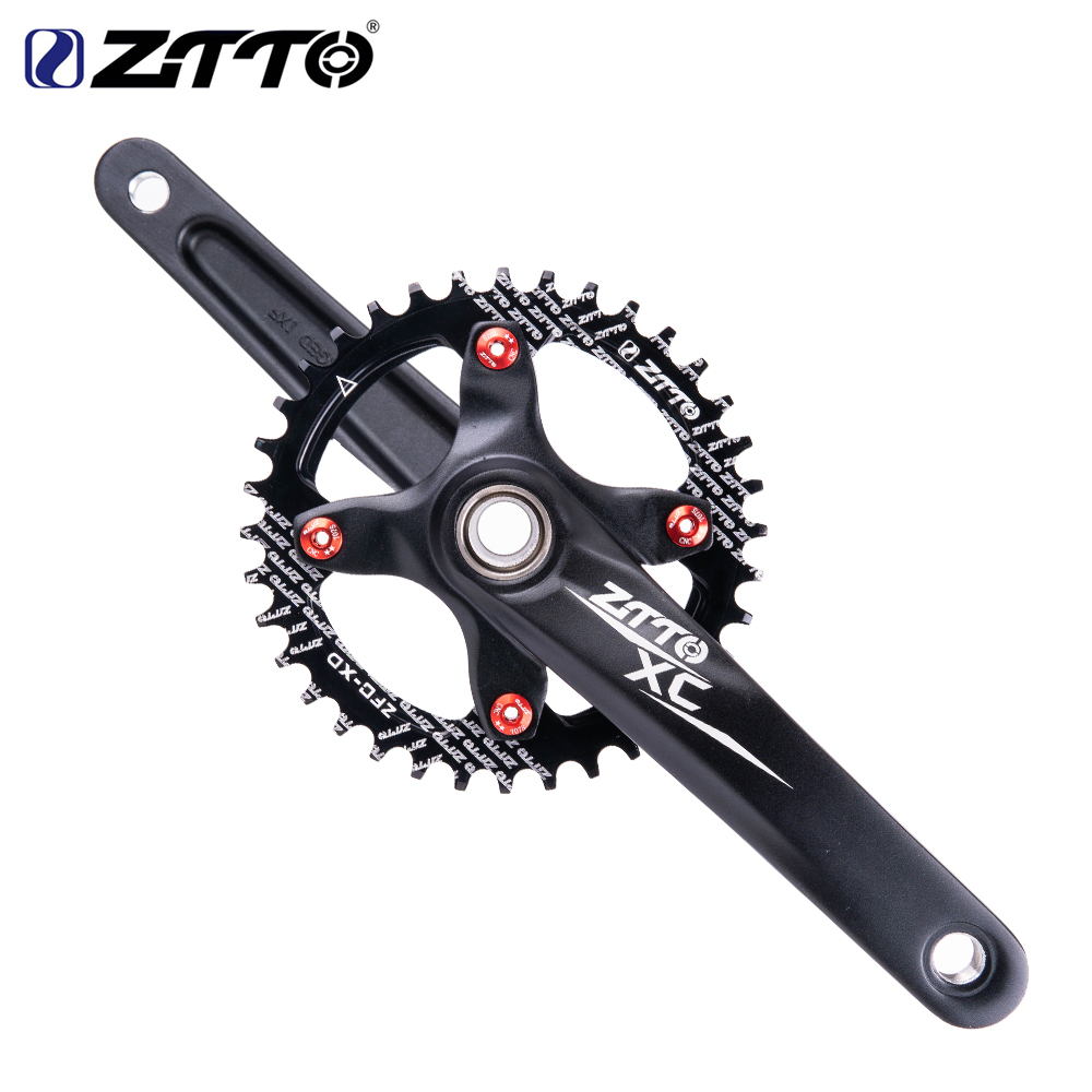 ZTTO Alloy Aluminum MTB Crankset Narrow Wide BCD 104 Mountain Bike Crank Arm With Chainwheel Bottom