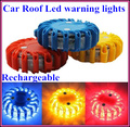 Rechargeable car Road safety led warning lights,emergency light,car roof warning beacon,install by magnetic,9 flash,waterproof