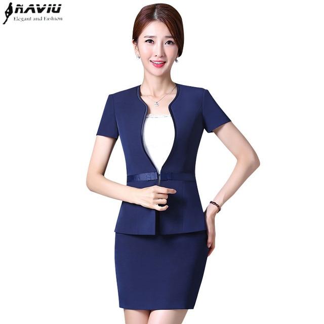 Aliexpress.com : Buy Summer 2017 new formal women skirt suit set ...