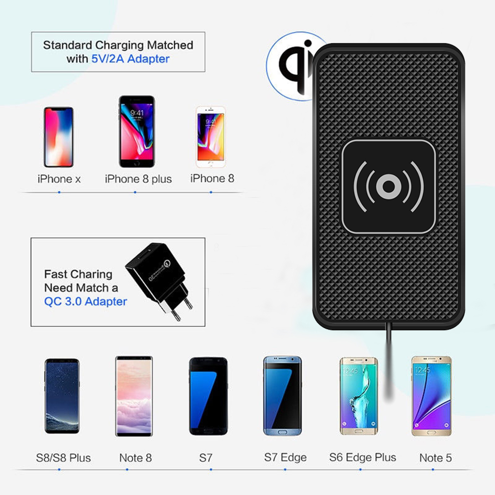 fast wireless charger charging pad qi car charger