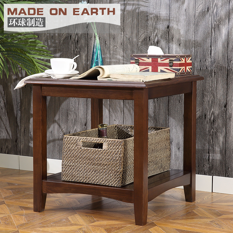 teaside Corner a few simple manufacture solid wood furniture American side  made small table square coffee