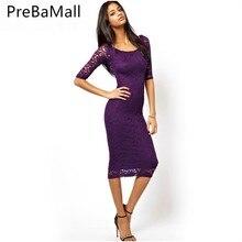 Black Party Elegant Flower Applique Lace Dress Half Sleeve Form Fitting Belted Solid Dress Autumn Women Streetwear Dresses C03