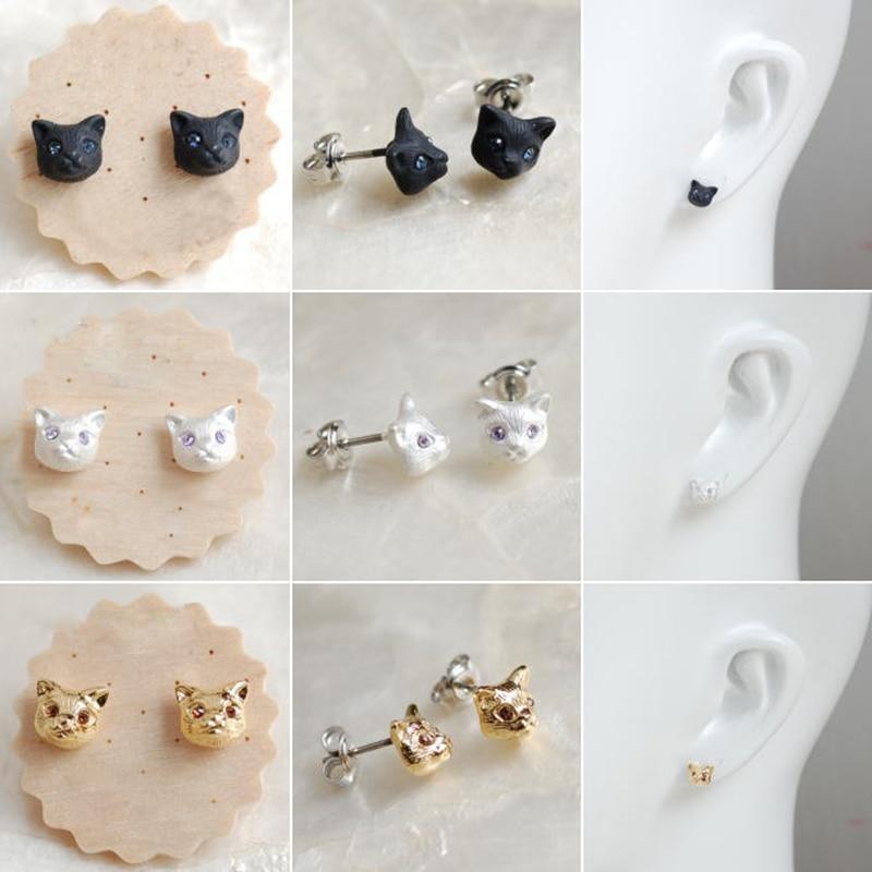 12beb0981045 pendientes gato - Los pendientes con forma de animales