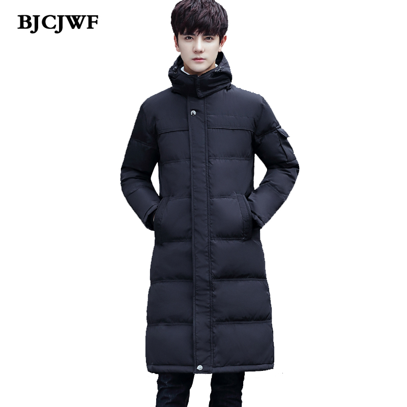 2017 New brand winter jacket men 70% white duck down Long jacket hooded parka mens down jacket thickening outerwear jackets coat