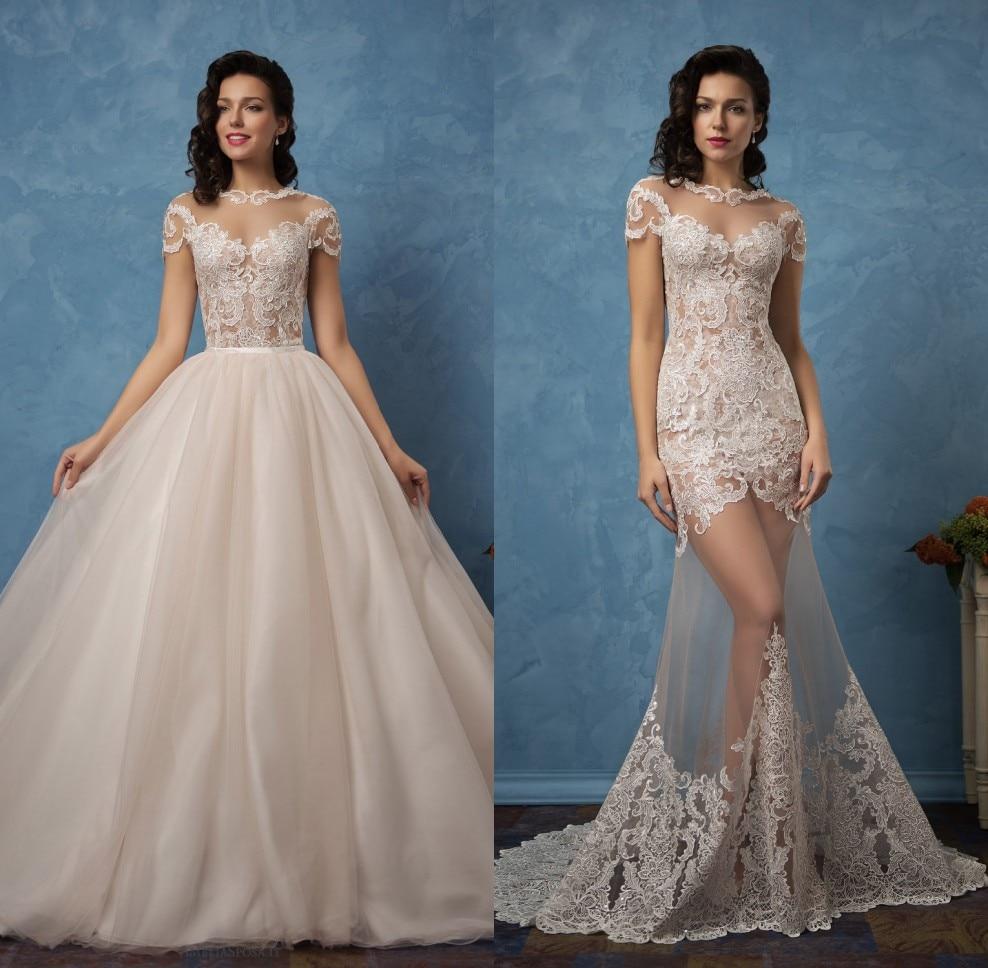 Vestidos De Novia 2 In 1 Sexy Mermaid Wedding Dresses With