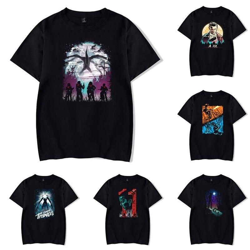 Stranger Things T-shirts Cool Stranger Things Pattern Print Short Sleeve Teens Summer Casual Cotton Tops Tees Harajuku Shirts