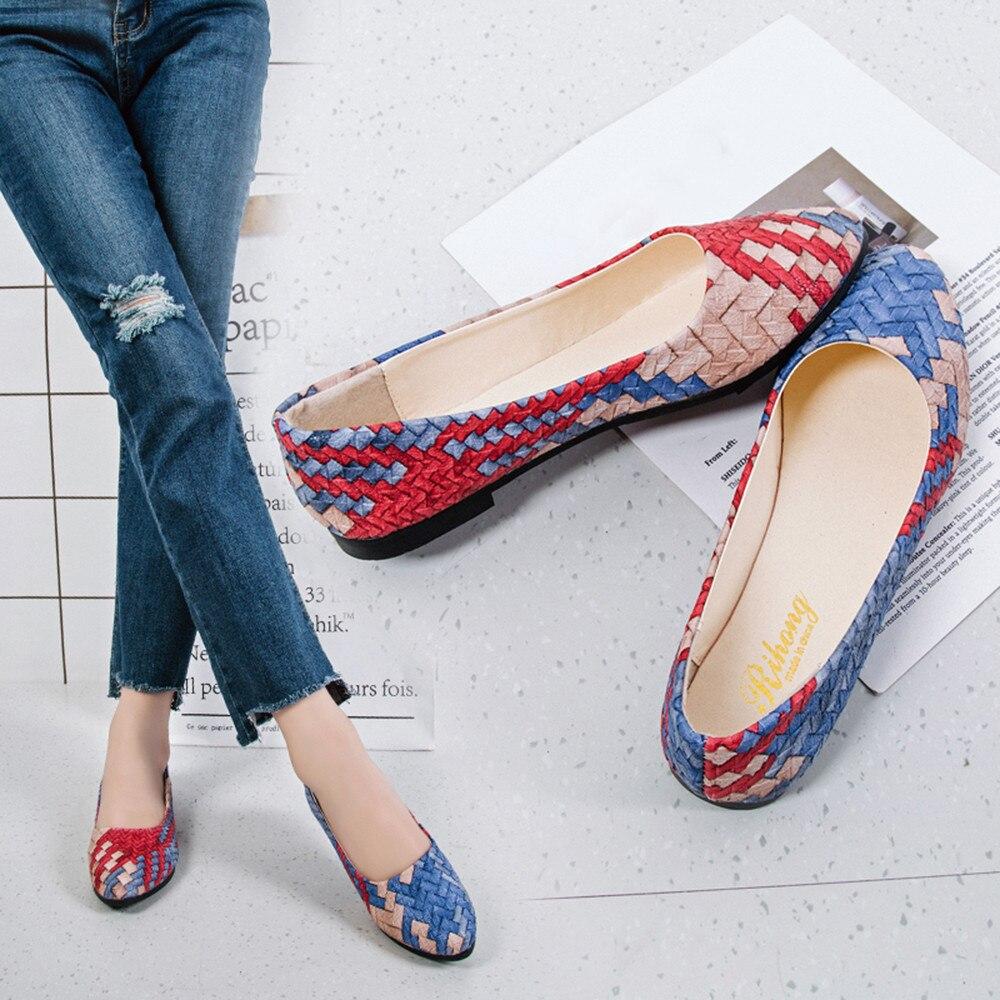 7df0f5a285d Verano Zapatos Nueva Moda Colores Bombas Mujer rojo Tacón Mocasines  Primavera El Las Mezclados verde Azul ...