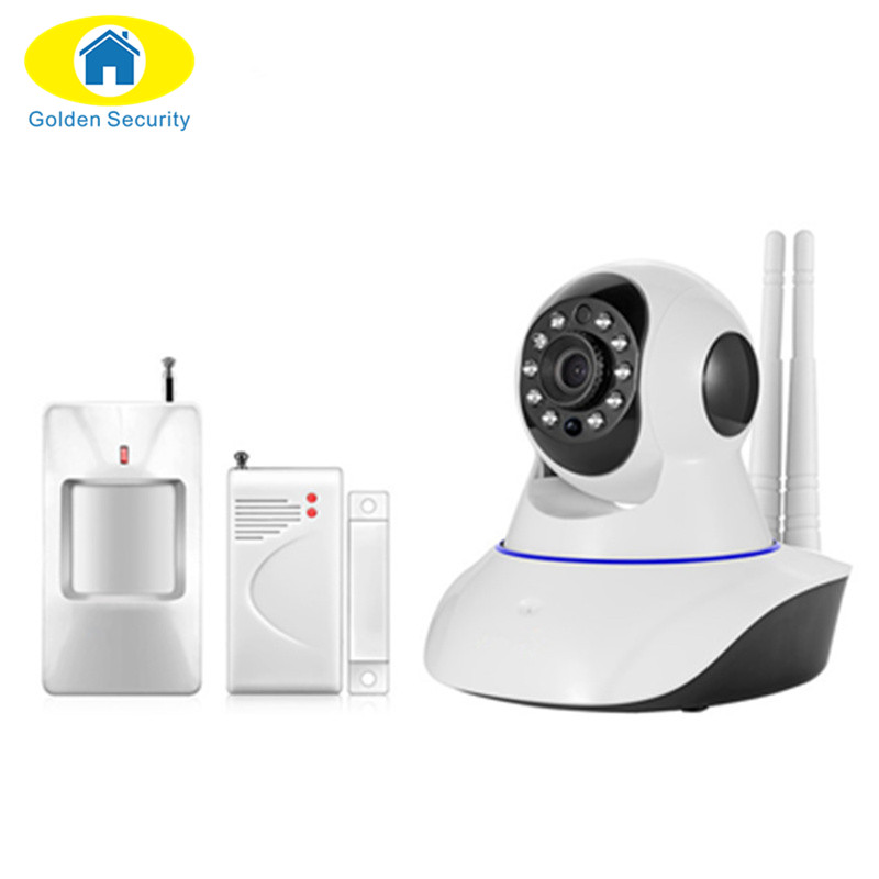 Golden Security 433Mhz Wireless IP Night Vision Audio Recording Network Indoor Surveillance WiFi Camera As Security Alarm System