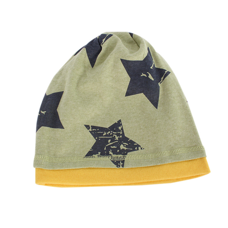 цена на New Hot 5 Colors Unisex Boys Kids Hat Baby Beanie Hat Cartoon Pentagram Cap
