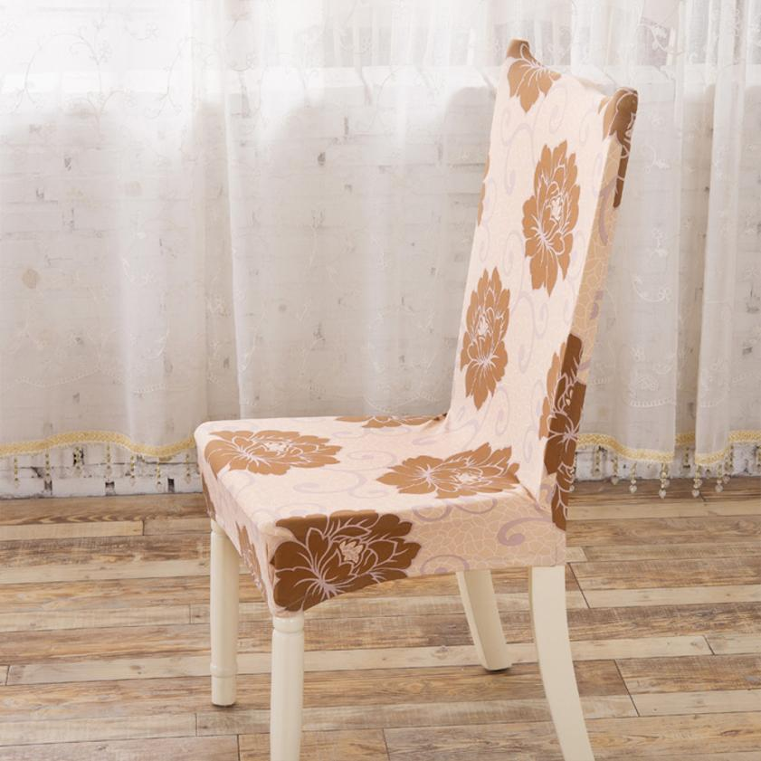 High Quality Dining Room Polyester Spandex Fabric Chair Covers AntiFouling Cap Slipcovers For Hotel Banquet Free Shipping