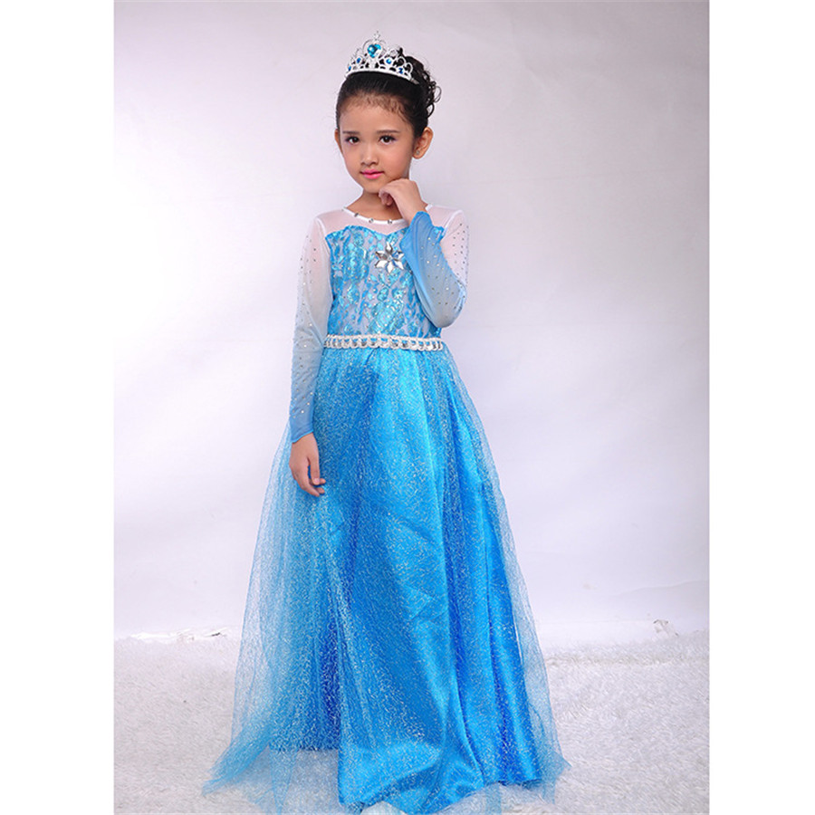 Children Princess Dress Kids Baby Girls Dress Spring Summer Elsa Anna Dresses Sophia Cinderella Princess Child Girl Party Dress summer 2017 new girl dress baby princess dresses flower girls dresses for party and wedding kids children clothing 4 6 8 10 year