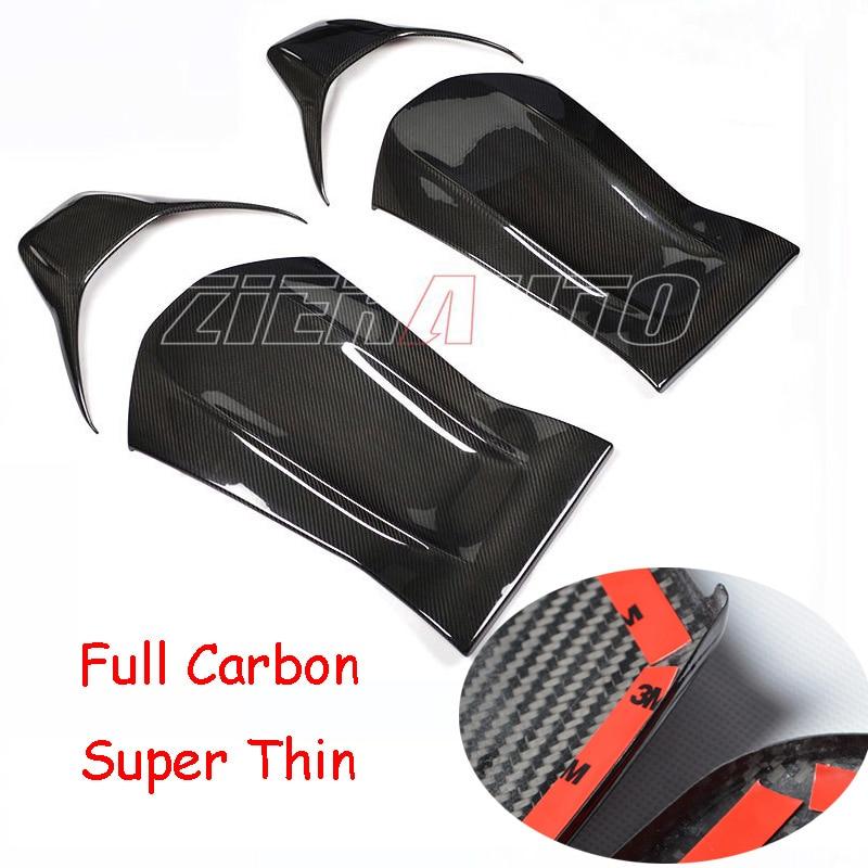 Carbon Fiber Seat Cover Back For Mercedes-Benz C63 AMG Dry Carbon Fiber Interior Trims Carbon Style Parts Merceds AMG C63 W205