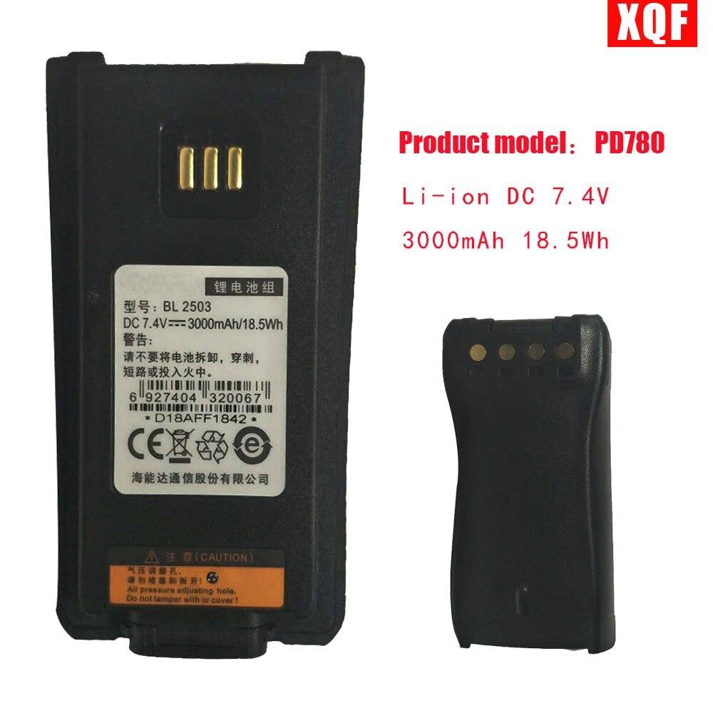 Li-ion DC 7.4V 3000mAh 18.5Wh Battery For Hytera For Hytera PD700 PD780 BL2503 PD705 PD705G PD785 PD785G BL2006 Radio BL 2503