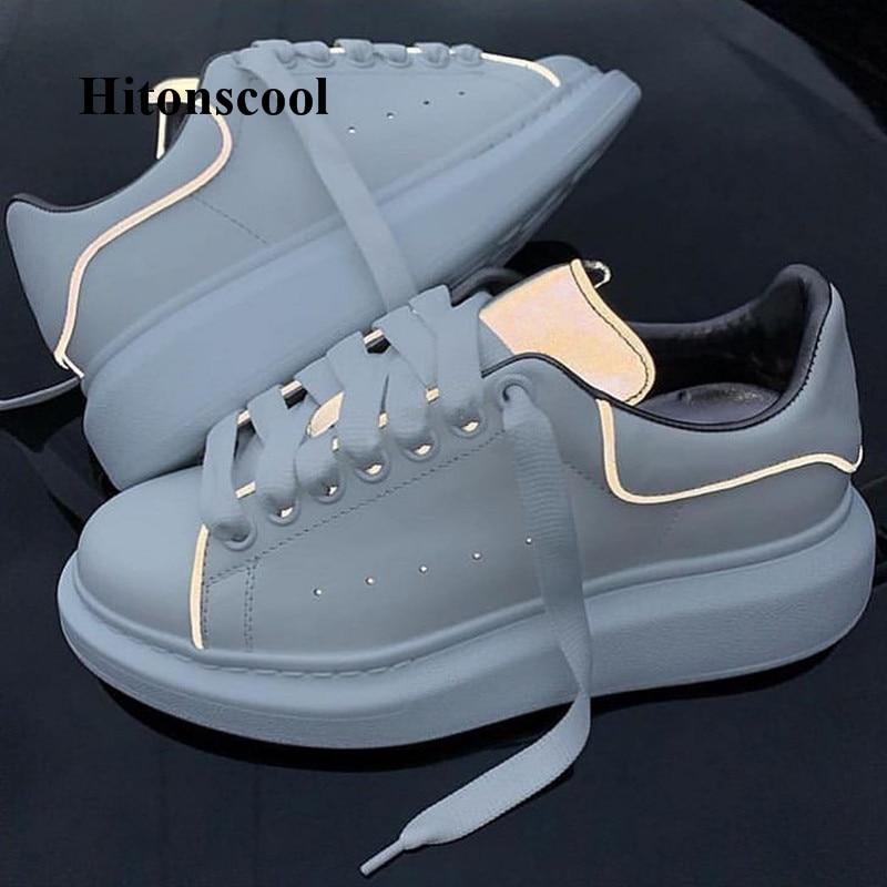 De Chaussures Espadrilles Semelles À Lacets Blanc Réfléchissant Marque Femme Picture Sport Piste As Nouvelle Sneakers Feminino Compensées Femmes Tenis Creepers WrCdoeBx