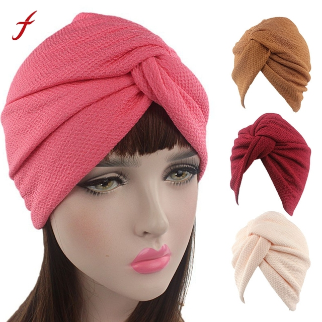 Women Soft Caps Winter Warm Knitted Hats Cancer Chemo Hat Fashion Beanie  Scarf Turban Head Wrap Cap Casual Female Hot Sale 2019 05be62e8a49