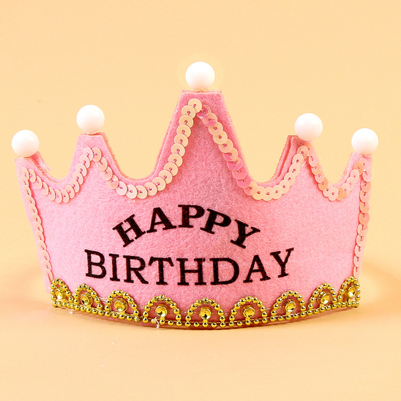 0-3 Years Kids Headband Birthday Crown Hot Toys Set Paper Crowns Kids Hat Toys Birthday Party Crown Headgear Birthday Toy