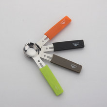 Multifunctional Stainless Knives and Forks Outdoor Camping Multipurpose Tools Hiking Survival Whistle Travel Kit