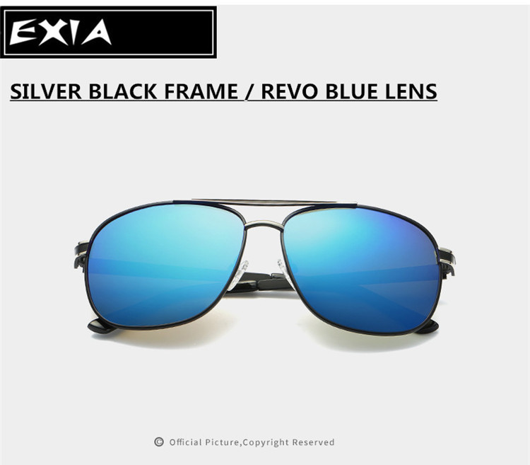 Ice Blue Mirror Lenses Polarized High Vision RX Lenses EXIA OPTICAL KD 0838 Series