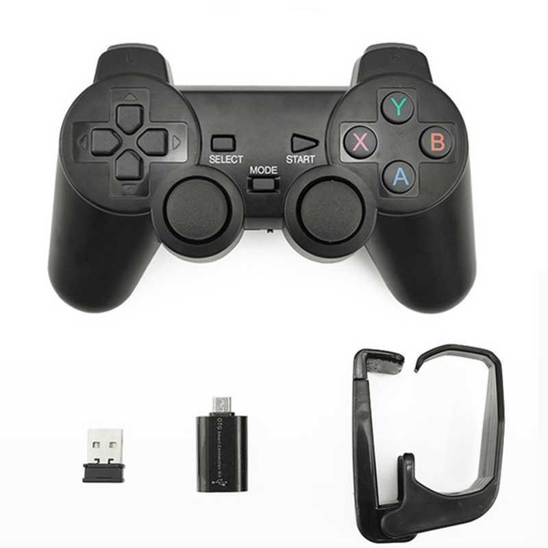 2,4G беспроводной джойстик игровой контроллер с кронштейном для PS3/tv Box/Android Phone/PC r30