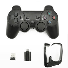EastVita 2,4G Gamepad inalámbrico PC para PS3 TV caja juego Joystick Joypad mando a distancia para Android convertidor de USB OTG(China)