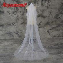 สีขาวงาช้าง simple 2 ชั้นงานแต่งงาน veil กับหวี Velos De Novia งานแต่งงานอุปกรณ์เสริม