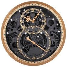 Большой механизм настенные часы современный дизайн механические движущиеся креативные шестеренки Часы колеса ретро римские Подвесные часы домашний декор 13,8″