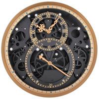 Large Gear Wall   Clock   Modern Design Mechanical Moving Creative Gear   Clock   Wheel Retro Roman Hanging Watch Home Decor 13.8