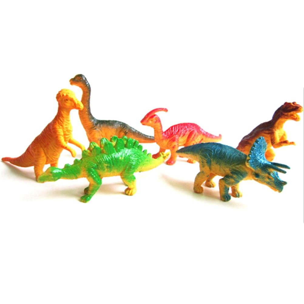 6pcs Large Assorted Dinosaurs Toy Plastic Figures Simulation Model Dinosaur  I