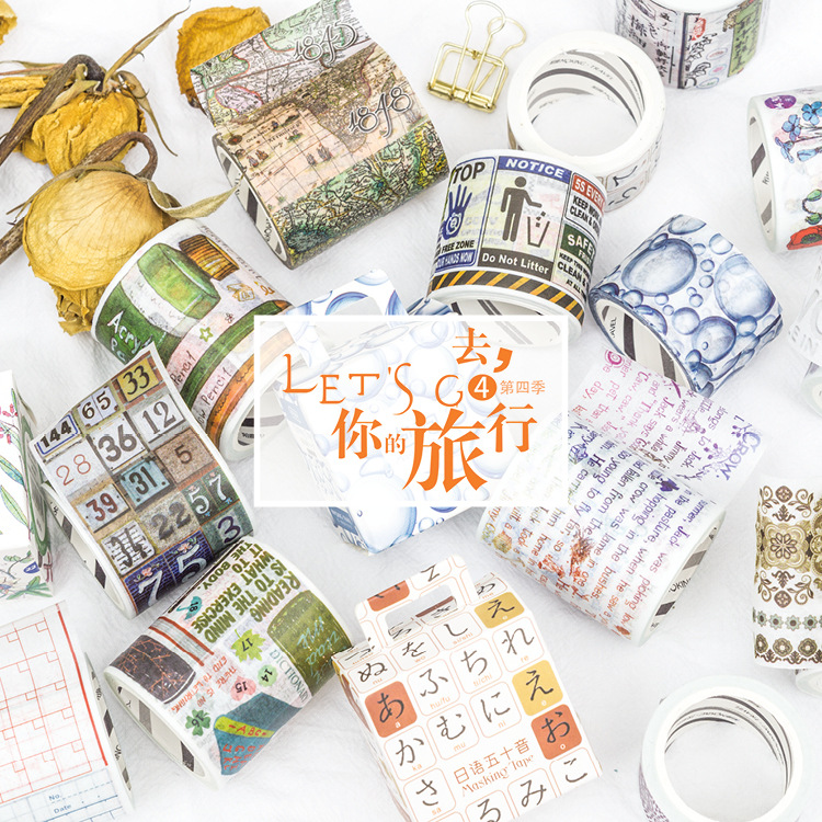 Let's Go Travel Fourth Washi Tape Adhesive Tape DIY Scrapbooking Sticker Label Masking Tape цена