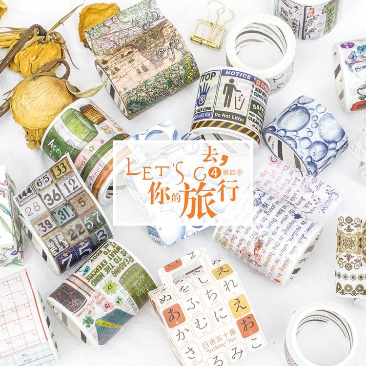 Let's Go Travel Fourth Washi Tape Adhesive Tape DIY Scrapbooking Sticker Label Masking Tape