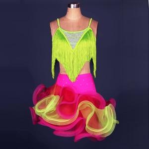 2017 New Adult/Children Latin Dance Dress Women/Girls Cha Cha/Rumba/Samba/Ballroom Clothing For Dance Roupa Infantil Feminina