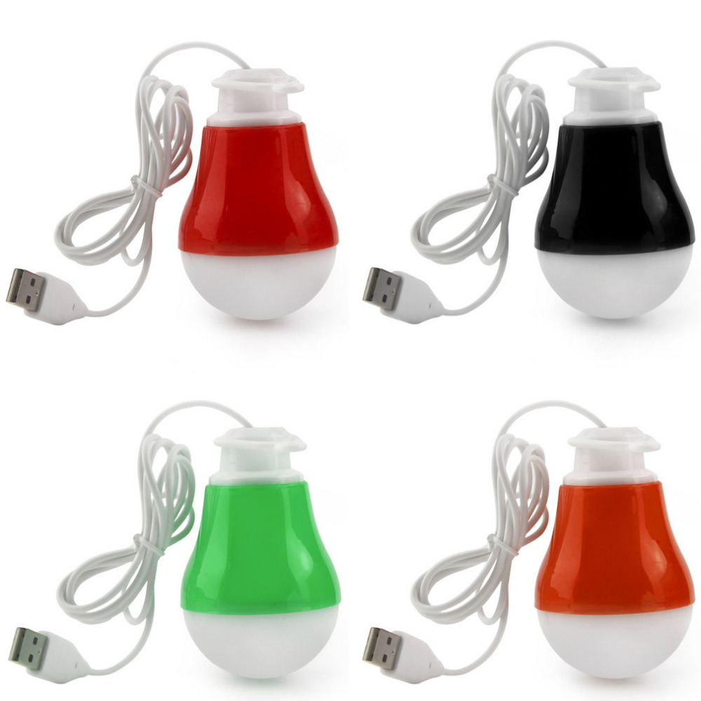 Bombilla LED 1 USB Portátil de Luz de Lectura Luz de La Noche 5 V DC 5 W SMD 57
