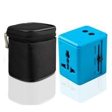 Универсальный дорожный адаптер с поддержкой быстрой зарядки, компактное и стильное многоразъемное зарядное устройство с двумя портами usb США/ЕС/Великобритания/Австралия