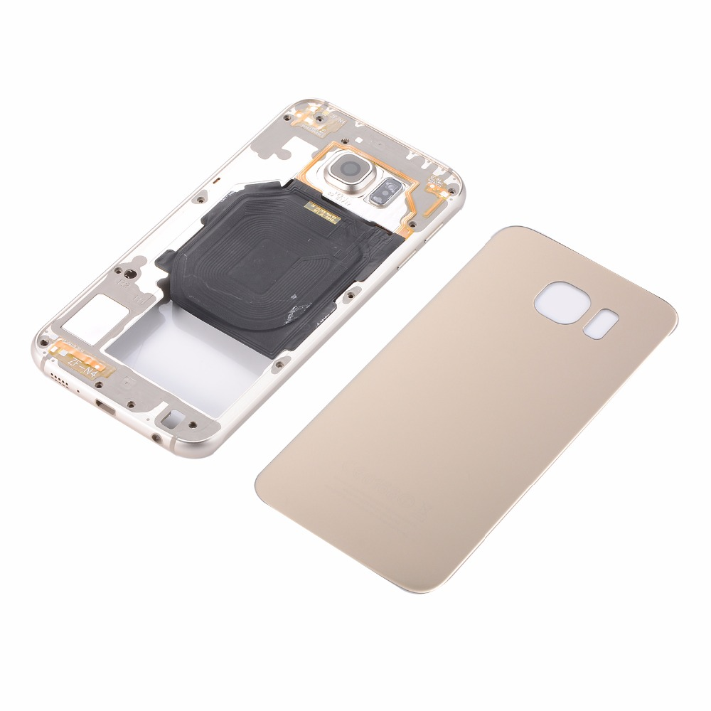 Cover-Case Battery Bezel-Frame Glass G920 Galaxy S6 Samsung Metal for Sm-g920/G920f/G920a/..