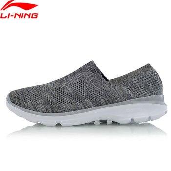 d9ad3b538 Li-Ning Для мужчин образ жизни обувь легко Уокер свет Вес подушки дышащие  кроссовки с подкладкой спортивная обувь AGCM101 YXB061
